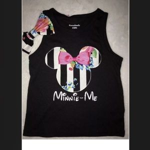 Other - Minnie Mouse top and a hair bow